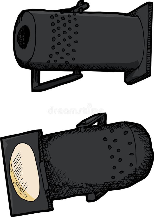 Isolerade etappljus vektor illustrationer