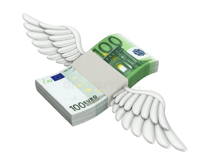 Isolerade europengar påskyndar flyg vektor illustrationer
