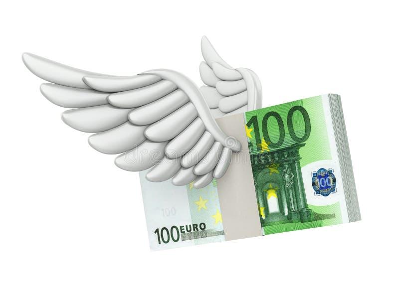 Isolerade europengar påskyndar flyg stock illustrationer