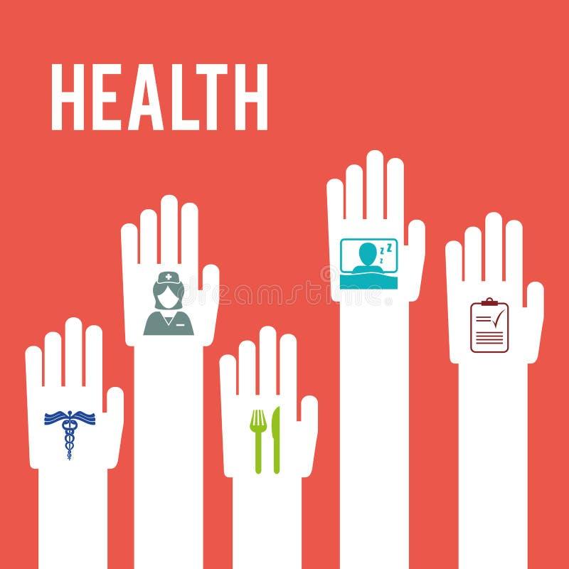 isolerade fängelsekunder för armomsorg hälsa stock illustrationer