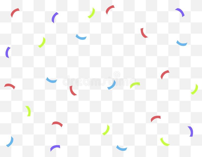 Isolerade f?rgrika konfettier vektor vektor illustrationer