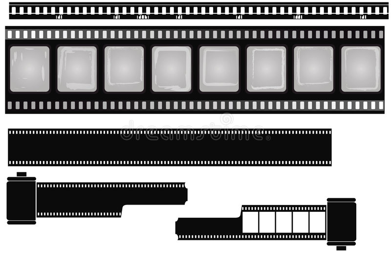 isolerade filmer royaltyfri illustrationer