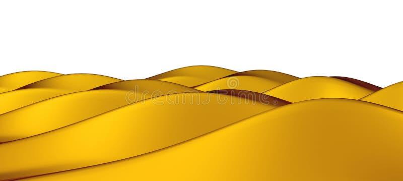 Isolerade guld- hummoks eller dyn stock illustrationer
