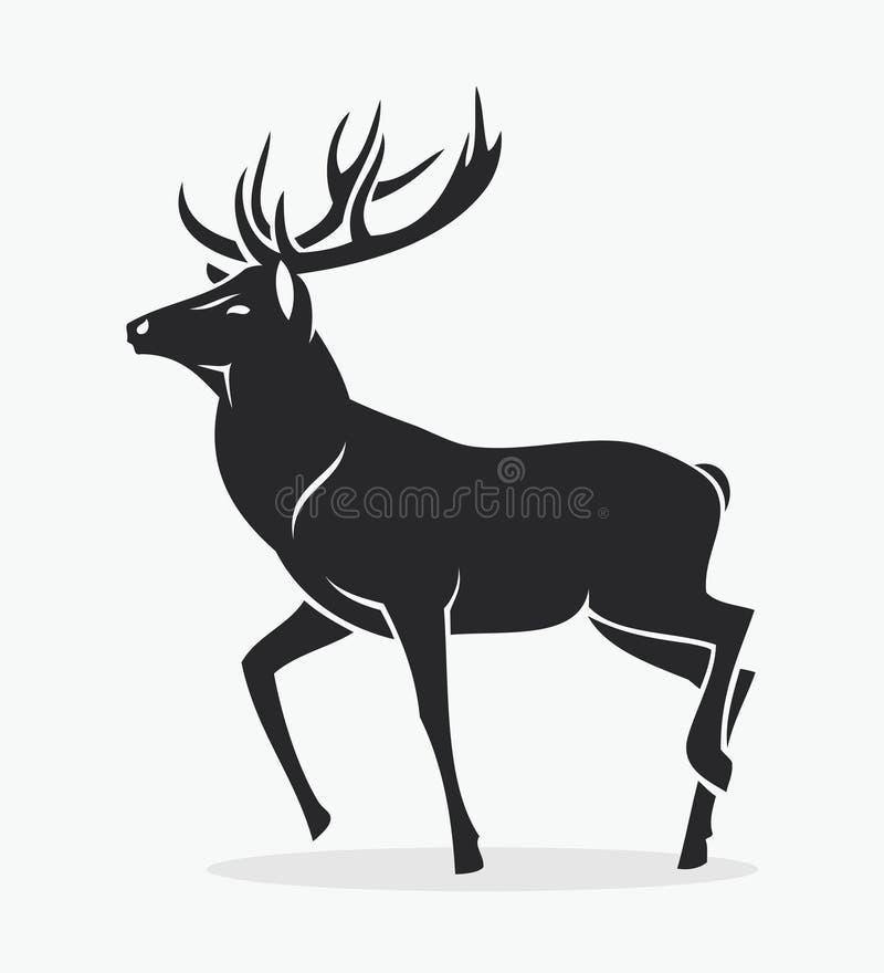 Isolerade hjortar royaltyfri illustrationer
