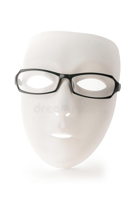 Isolerade maskerings- och avläsningsexponeringsglas royaltyfri foto