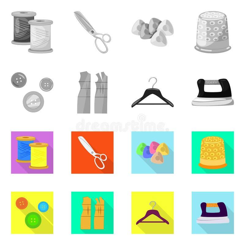 Isolerade objekt av hantverket och handcraft logo Samling av hantverk- och branschvektorsymbolen f?r materiel vektor illustrationer