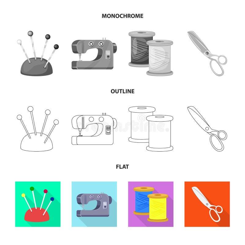 Isolerade objekt av hantverket och handcraft logo Samling av illustrationen f?r hantverk- och branschmaterielvektor vektor illustrationer