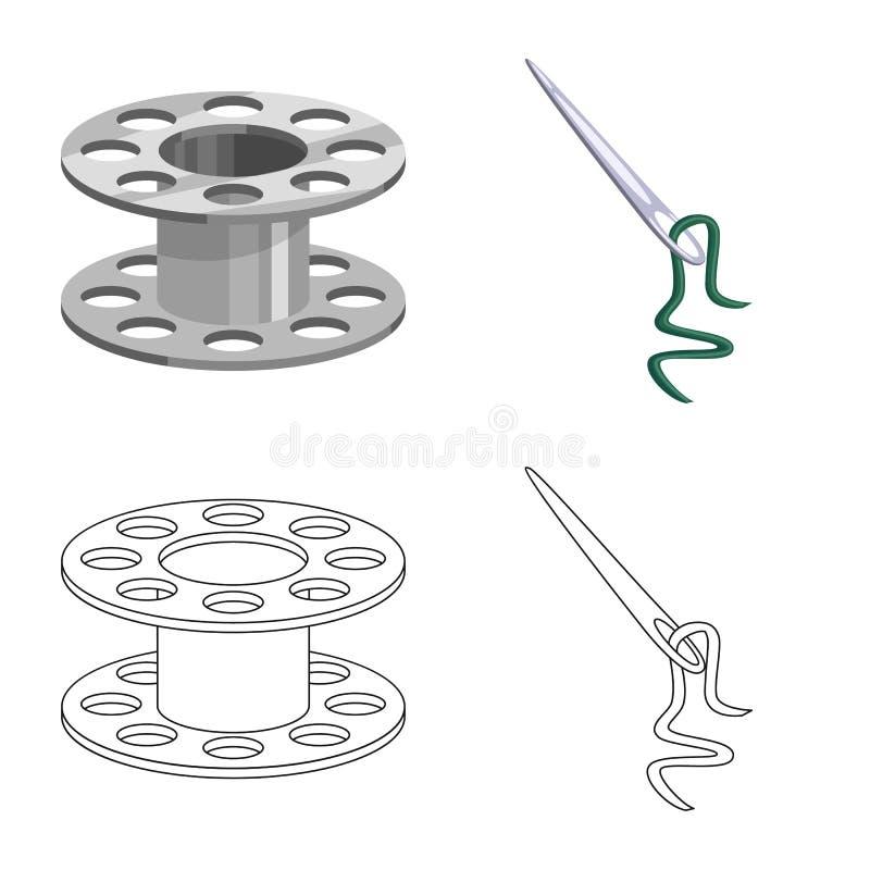 Isolerade objekt av hantverket och handcraft symbol St?ll in av hantverk- och branschvektorsymbolen f?r materiel vektor illustrationer