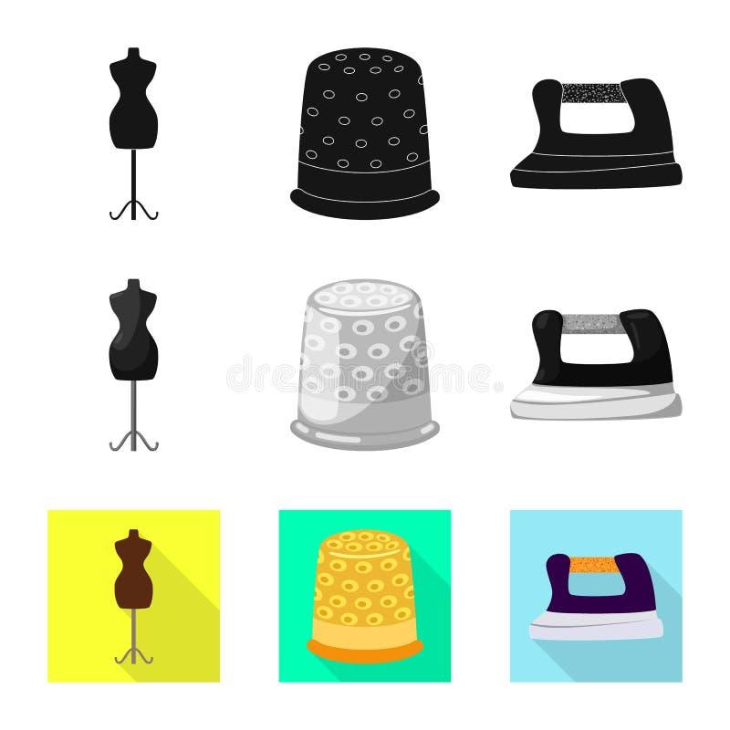 Isolerade objekt av hantverket och handcraft symbol St?ll in av illustration f?r hantverk- och branschmaterielvektor royaltyfri illustrationer