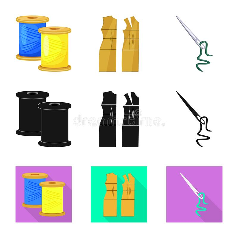 Isolerade objekt av hantverket och handcraft symbolen St?ll in av hantverk- och branschmaterielsymbolet f?r reng?ringsduk vektor illustrationer