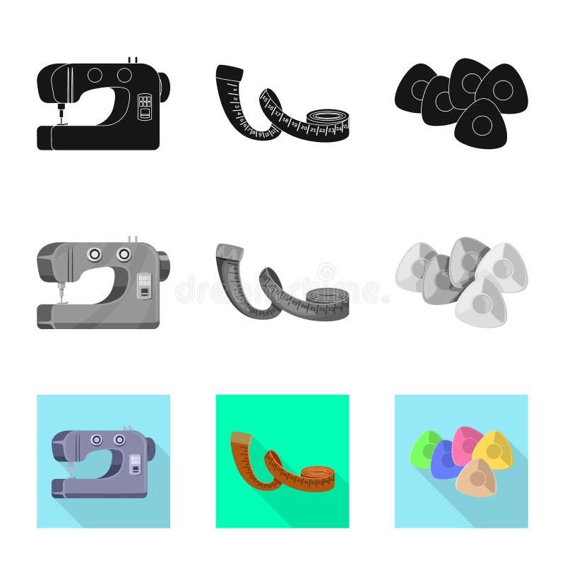 Isolerade objekt av hantverket och handcraft tecknet St?ll in av hantverk- och branschvektorsymbolen f?r materiel stock illustrationer