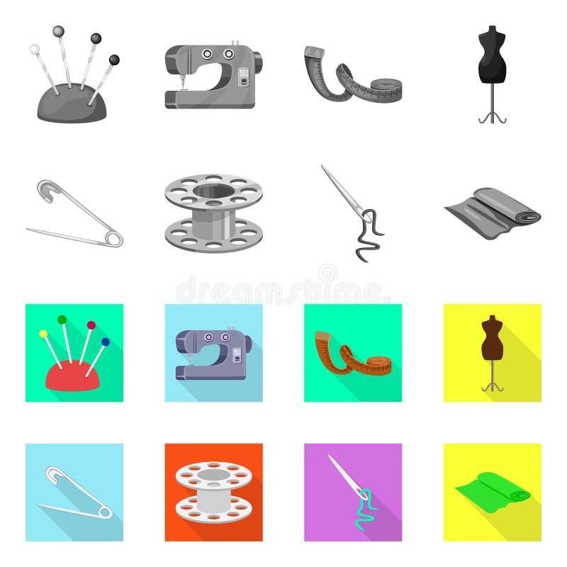 Isolerade objekt av hantverket och handcraft tecknet St?ll in av illustration f?r hantverk- och branschmaterielvektor stock illustrationer