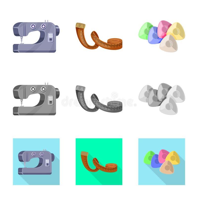 Isolerade objekt av hantverket och handcraft tecknet St?ll in av illustration f?r hantverk- och branschmaterielvektor vektor illustrationer