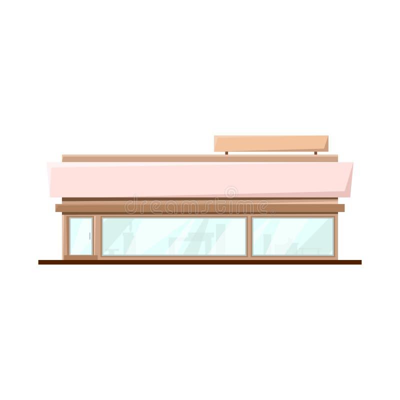 Isolerade objekt av stormarknaden och shoppar symbol Samling av stormarknad- och kontorsvektorsymbolen för materiel vektor illustrationer