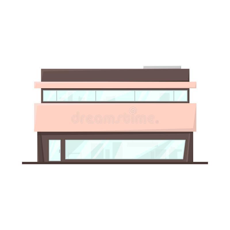 Isolerade objekt av stormarknaden och shoppar symbolen Samling av stormarknad- och fasadvektorsymbolen för materiel vektor illustrationer
