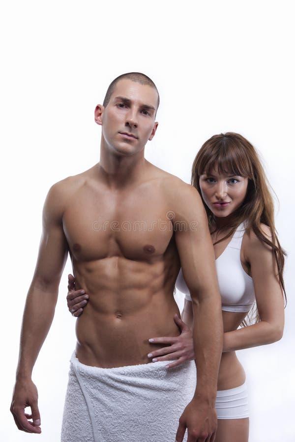 isolerade par tränga sig in sexig white fotografering för bildbyråer