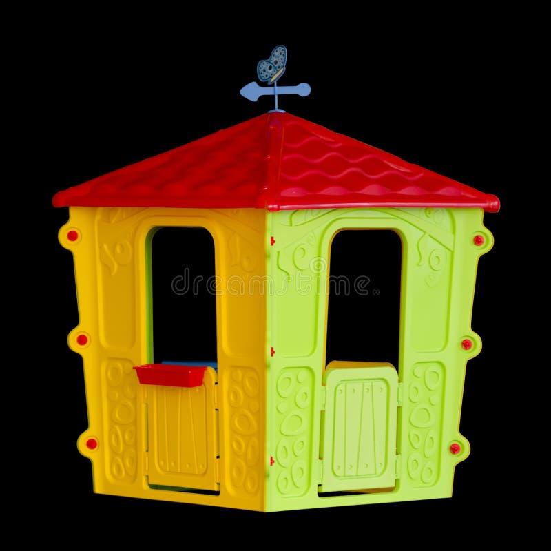 Isolerade plast- barns lekstuga royaltyfri foto
