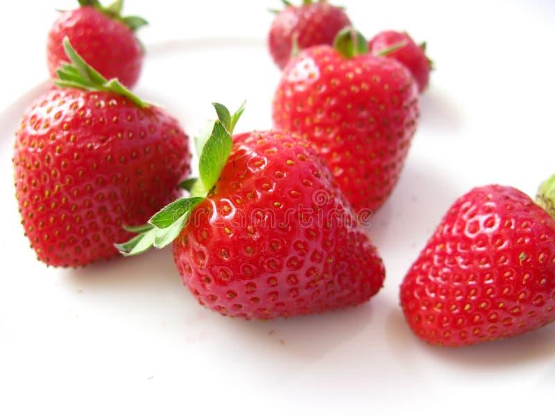 isolerade röda jordgubbar royaltyfri bild
