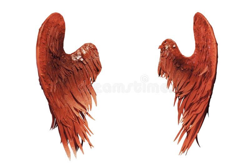 isolerade röda vita vingar royaltyfria bilder