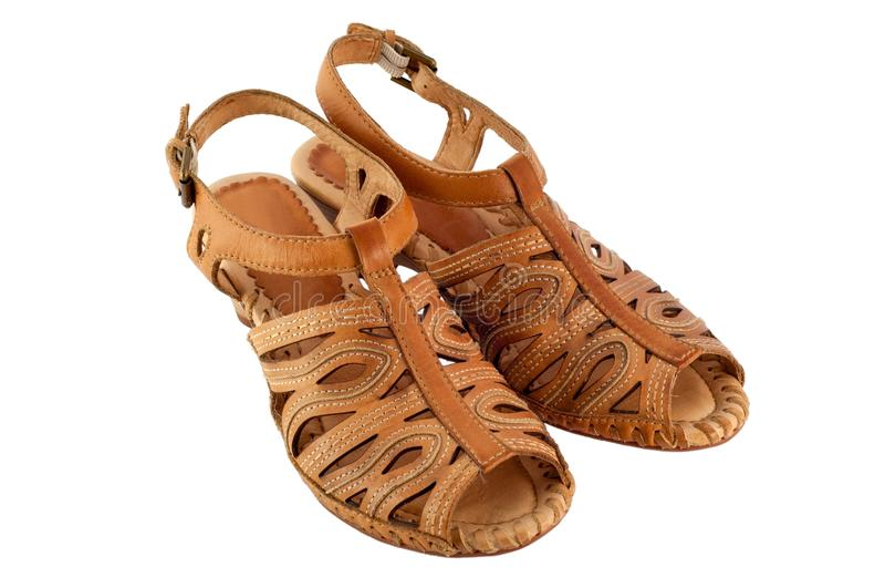 Isolerade sandaler arkivbild