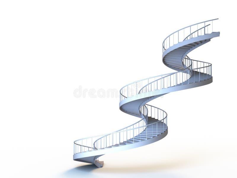 isolerade spirala strairs stock illustrationer