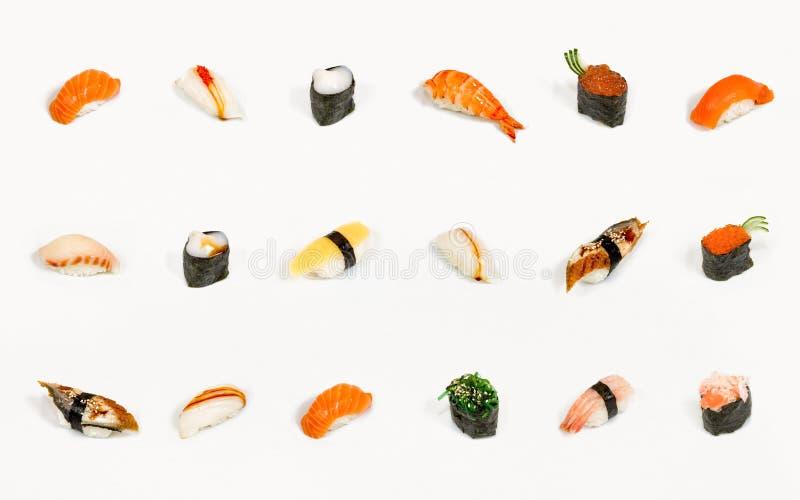 isolerade sushi royaltyfri foto