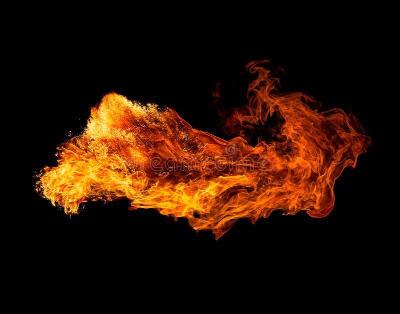 isolerade svart brand för bakgrund arkivfoton
