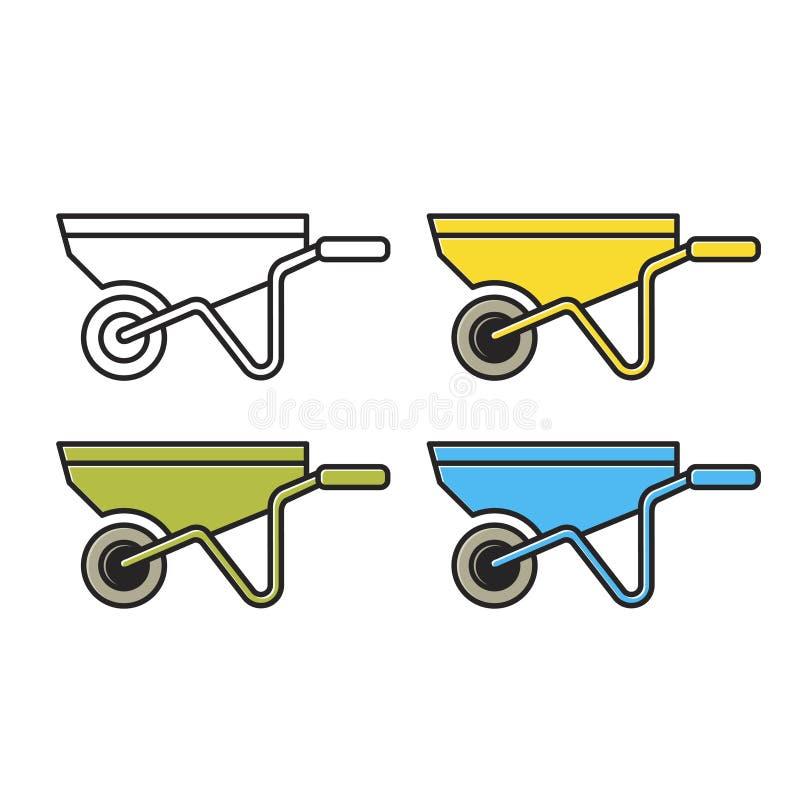 Isolerade variationer för hjullånsymbol royaltyfri illustrationer