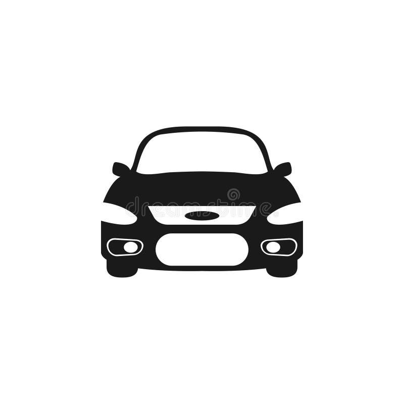 Isolerade vektorn för mallen för den grafiska designen för bilsymbolen royaltyfri illustrationer