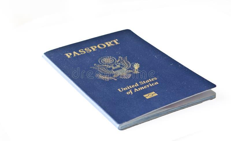 Isolerat amerikanskt pass fotografering för bildbyråer