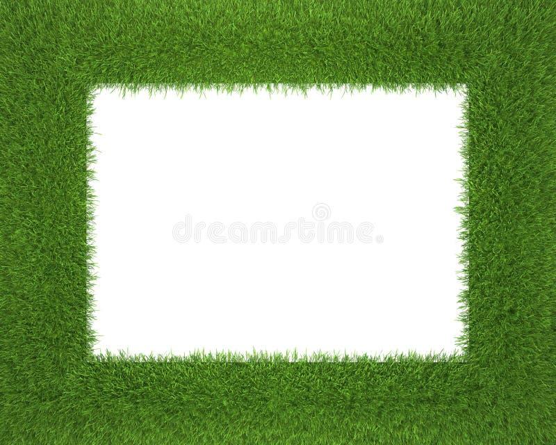 isolerat bakgrundsramgräs gjorde white vektor illustrationer