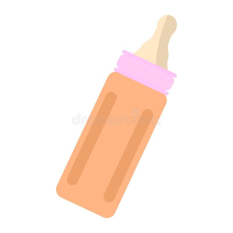 Isolerat behandla som ett barn flasksymbolen stock illustrationer