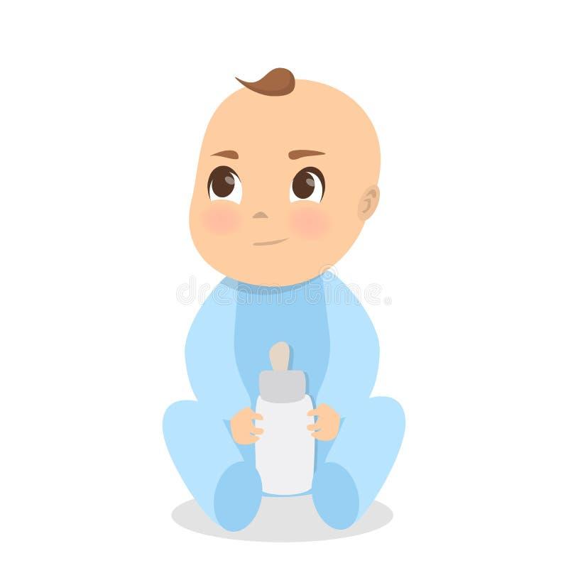 Isolerat behandla som ett barn pojken stock illustrationer