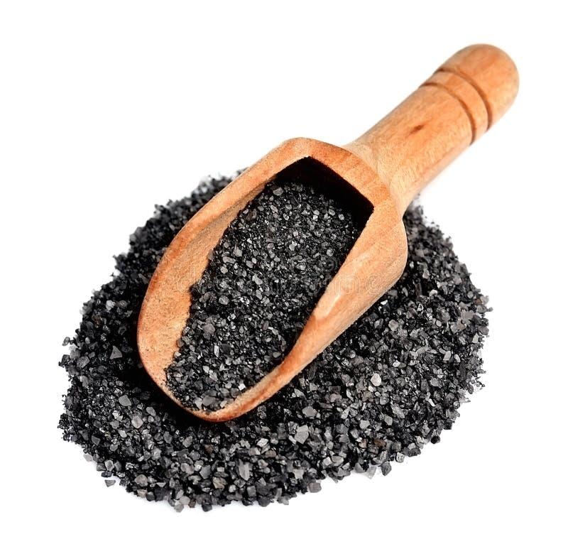 Isolerat Black Sea salt royaltyfri foto