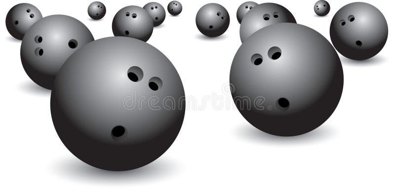 isolerat bowla för bollar stock illustrationer
