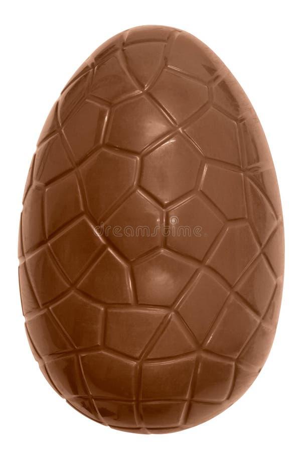 isolerat chokladeaster ägg royaltyfri bild