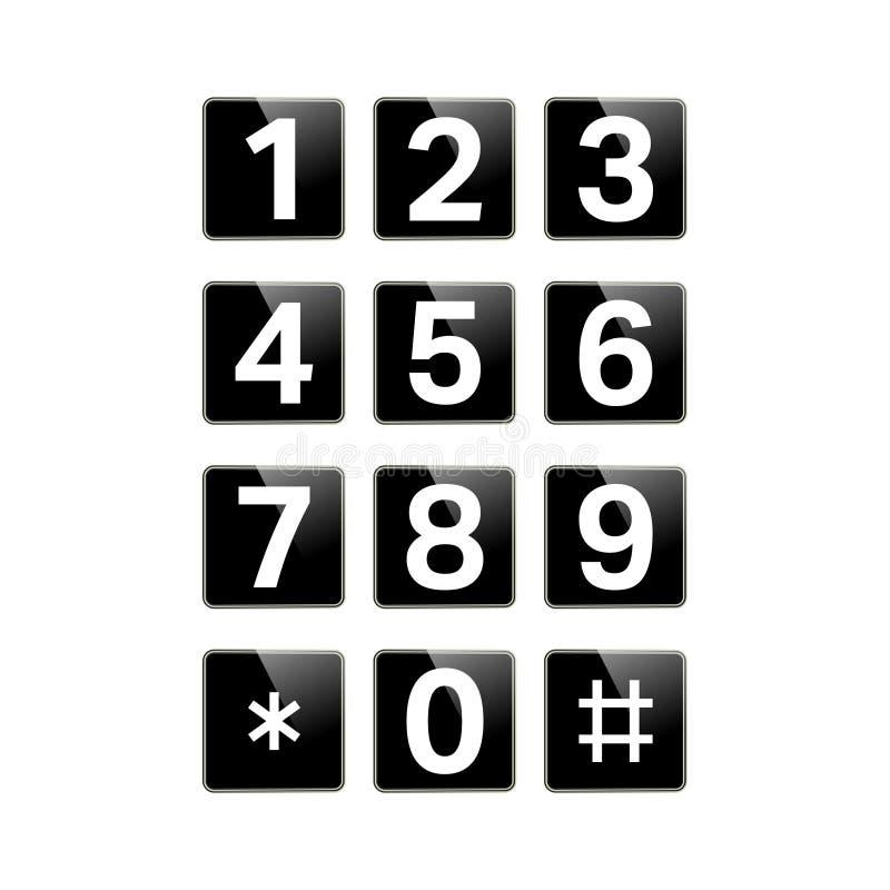 Isolerat Digital tangentbord stock illustrationer