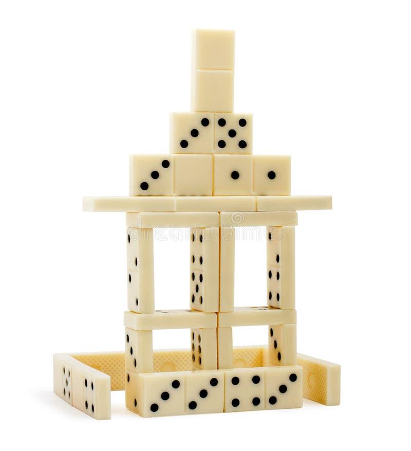 isolerat dominohus arkivfoto