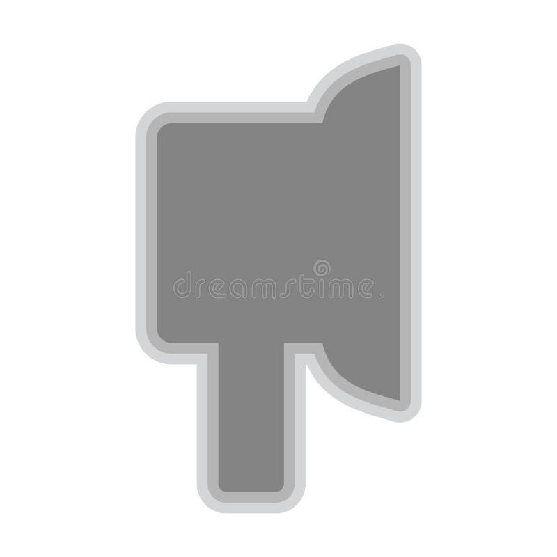 Isolerat earpadsymbol på vit bakgrund royaltyfri illustrationer