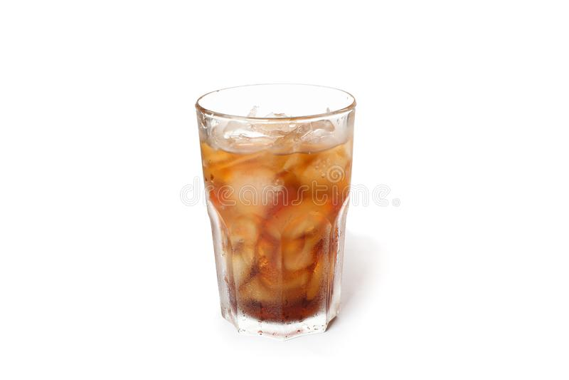 Isolerat exponeringsglas av kall cola arkivfoto