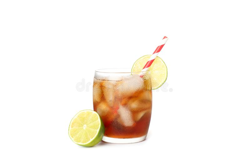 Isolerat exponeringsglas av kall cola arkivbild