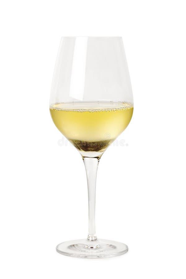 Isolerat exponeringsglas av vitWine royaltyfri bild