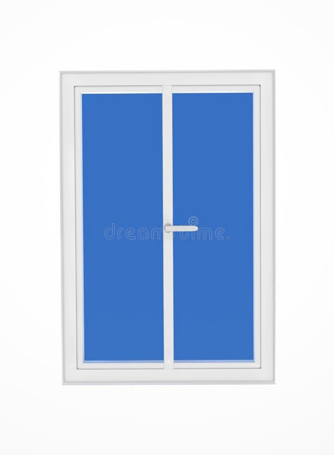 isolerat fönster stock illustrationer