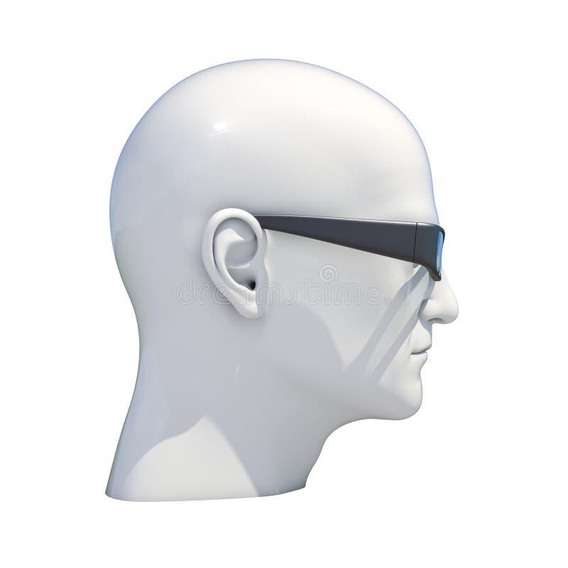 Isolerat falskt huvud för skyltdocka royaltyfri illustrationer