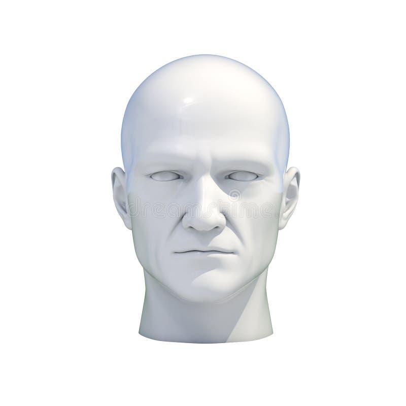 Isolerat falskt huvud för skyltdocka vektor illustrationer