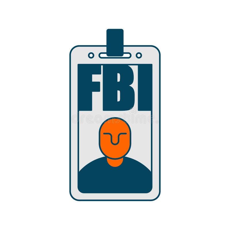 Isolerat Fbi-emblem Federalt federala utredningsbyråntecken stock illustrationer