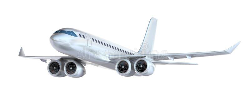 Isolerat flygplan vektor illustrationer