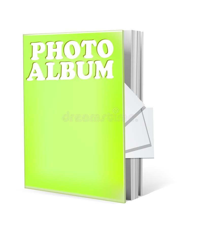 isolerat foto för album bok vektor illustrationer