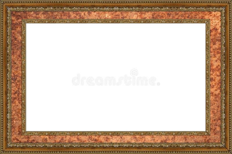 Isolerat fotoram, bildram royaltyfria bilder