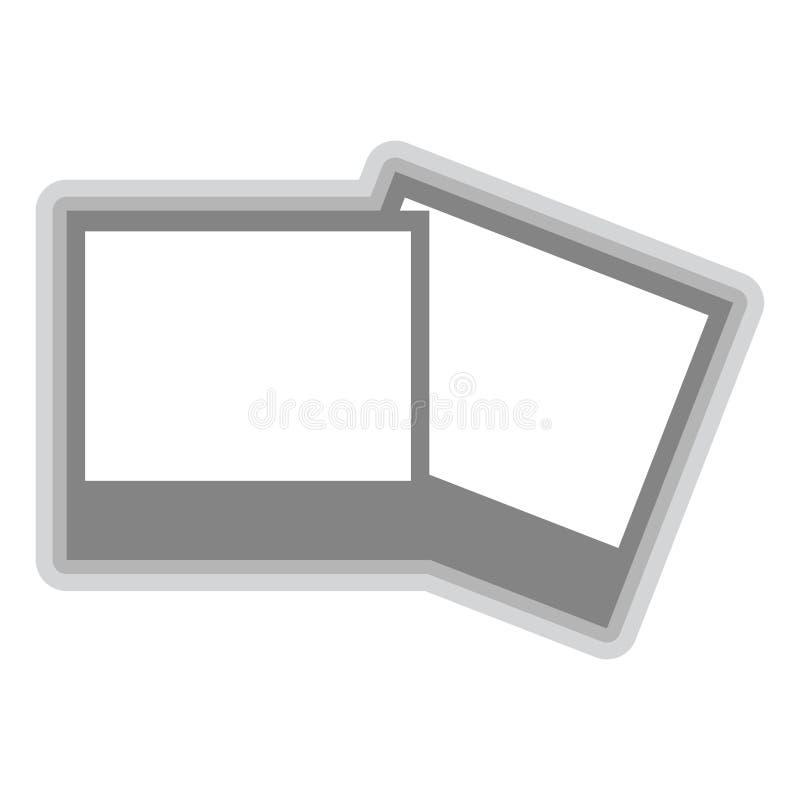 Isolerat fotosymbol på vit bakgrund vektor illustrationer
